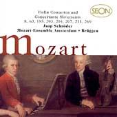 Mozart: Violin Concertos, etc / Schroeder, Brueggen