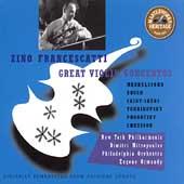 HERITAGE  Zino Francescatti - Great Violin Concertos