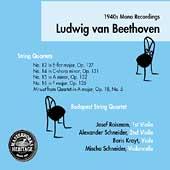 HERITAGE  Beethoven: Quartets, etc / Budapest String Quartet