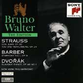 Bruno Walter Edition - Strauss, Barber, Dvorak