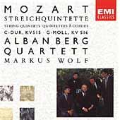 Mozart: String Quintet no 3 & 4 / Alban Berg Quartet, M Wolf