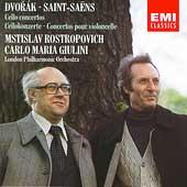 Dvorak, Saint-Saens: Cello Concertos / Rostropovich, Giulini