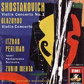Glazunov, Shostakovich: Violin Concertos / Perlman, Mehta