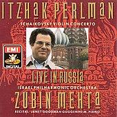 Live in Russia - Tchaikovsky: Violin Concerto;  etc / Perlman, Mehta, Goodman Guggenheim, Israel PO