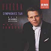 Dvorak: Symphonies Nos 7 & 8 / Mariss Jansons
