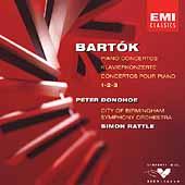 Bartok: Piano Concertos 1-3 / Peter Donohoe, Simon Rattle