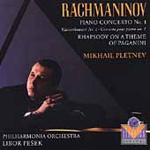 Rachmaninov: Piano Concerto no 1, etc / Pletnev, Pesek