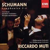 Schumann: Symphonies 1-4, Overtures / Muti, Philharmonia