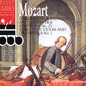 Mozart: Concerto for Bassoon, Symphony no 25, Rondo