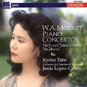Mozart: Piano Concertos no 9 and 24 / Tabe, Lopez-Cobos