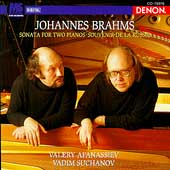 Brahms: Sonata for Two Pianos, etc / Afanassiev, Suchanov