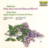 Classics - Hindemith: When Lilacs Last in Dooryard Bloom'd