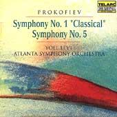 Classics - Prokofiev: Symphonies no 1 & 5 / Levi, Atlanta SO