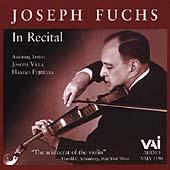 Joseph Fuchs in Recital - Mozart, Bach, etc / Fuchs, Villa