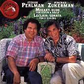 Mozart, Leclair: Violin Duos / I Perlman, P Zukerman