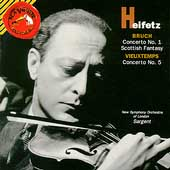 Bruch:Violin Concerto No.1/Scottish Fantasy/Vieuxtemps:Violin Concerto No.5:Jascha Heifetz(vn)/Malcolm Sargent(cond)/New Symphony Orchestra/etc
