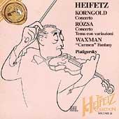 The Heifetz Collection Vol.21 -Korngold/Rozsa/Waxman:Jascha Heifetz(vn)