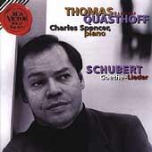 Schubert: Goethe-Lieder :Thomas Quasthoff(Br)/Charles Spencer(p)