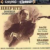Double Concertos -J.S.Bach:Concerto for 2 Violins BWV.1043(5/1961)/Mozart:Sinfonia Concertante K.364(10/02/1956)/Brahms:Concerto for Violin & Cello op.102(5/1960):Jascha Heifetz(vn)/M.Sargent(cond)/New SO/etc