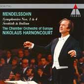 Mendelssohn: Symphonies nos 3 & 4 / Nikolaus Harnoncourt
