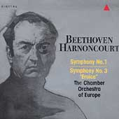 Beethoven: Symphonies 1 & 3 / Harnoncourt, CO of Europe