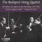 Library of Congress Mozart Recordings / Budapest Quartet