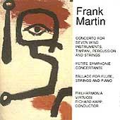 Martin: Concerto for 7 Wind Instruments, etc / Richard Kapp