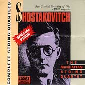 Shostakovich: Complete String Quartets / Manhattan Quartet