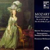 Mozart: Piano Concertos no 19 & 18 / Melvyn Tan, McGegan