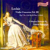 Leclair: Violin Concertos Vol 3 / Simon Standage