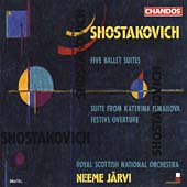 Shostakovich: Five Ballet Suites, etc / Jaervi, Scottish NO