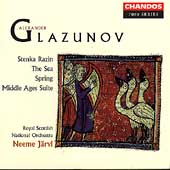 Glazunov: Stenka Razin, etc / Jaervi, Scottish Natl Orch