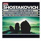 Shostakovich: Symphonies 1 & 6 / Jaervi, Scottish Natl Orch