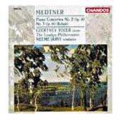 Medtner: Piano Concertos no 2 & 3 / Tozer, Jarvi, London PO
