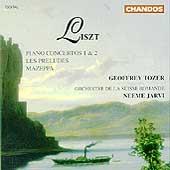 Liszt: Piano Concertos 1 & 2, etc / Tozer, Jaervi, et al