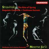 Stravinsky: The Rite of Spring, etc / Jaervi, Suisse Romande
