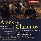 Arensky: Violin Concerto;  Glazunov / Turovsky, et al
