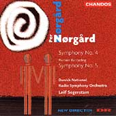 Norgard: Symphony no 4 & 5 / Segerstam, Danish National RSO