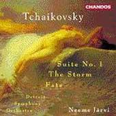 Tchaikovsky: Suite no 1, The Storm, etc / Jaervi, Detroit SO