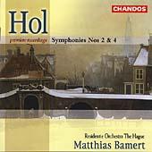 Hol: Symphony no 2 & 4 / Bamert, Hague Resindentie Orchestra