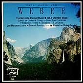 Weber: Clarinet Music Vol 1 / Manasse, Sanders, Manhattan Qt