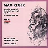Reger: Suite in Olden Style, Serenade / Stein, Bamberg SO