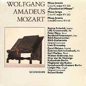 Mozart: Masses K 65, K 258 & K 262 / Gronostay, Bader