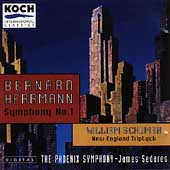 Herrmann: Symphony no 1;  Schuman / Sedares, Phoenix SO
