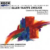 Zwilich: Symphony no 3, Oboe Concerto, etc / Sedares, Mack