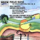Rozsa: Vol 3, Viola Concerto, etc / Silverthorne, Sedares