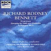 Bennett: Diversions, Violin Concerto, etc / DePreist