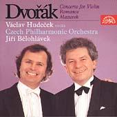 Dvorak: Violin Concerto, etc / Hudecek, Belohlavek, Czech PO
