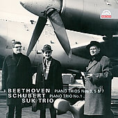 "Beethoven: Piano Trios No.3 Op.1-3, No.5 Op.70-1 ""Ghost""(4/8-12/1963), No.7 Op.97 ""Archduke""(8/29-9/1/1961); Schubert: Piano Trio No.1 Op.99 (9/7-9/1964) / Suk Trio"