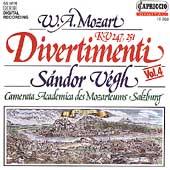 Mozart: Divertimenti K 247 and K 251 / Sandor Vegh(cond), Salzburg Mozarteum Camerata Academica
